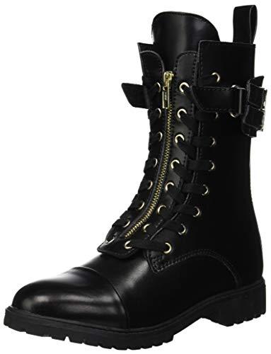 Versace Leder Jeans (Versace Jeans Damen Stivali - Donna Combat Boots, Schwarz (Nero E899), 35 EU)