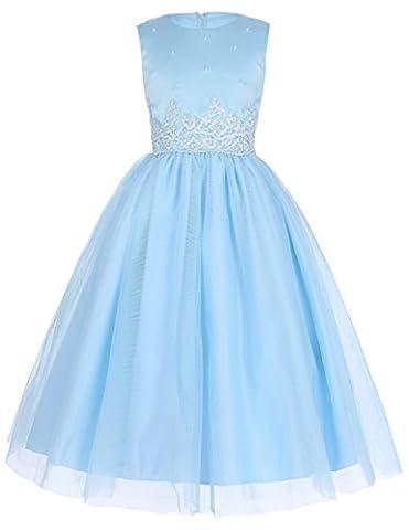 Fille Elegante Robe de Mariage Demoiselle d'Honneur Robe 5~6 Ans FR8939-3