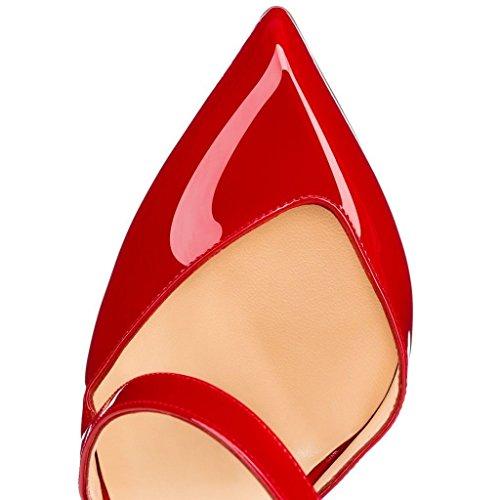 uBeauty - Scarpe da Donna - Scarpe col Tacco - Classiche Scarpe col Tacco - Taglia Grossa Scarpe Rosso
