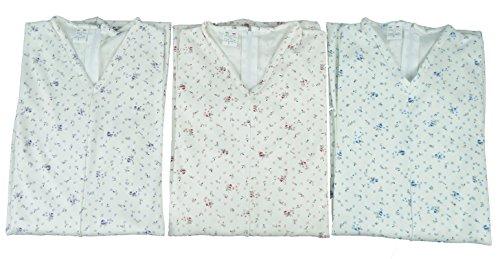 Made in italy tutone pigiama intero anziano manica lunga zip posteriore 100% cotone mezza stagione