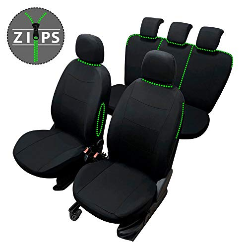 rmg-distribuzione Coprisedili per 307 Versione (2001-2005 (T5)) compatibili con sedili con airbag, bracciolo Laterale, sedili Posteriori sdoppiabili R21S0659
