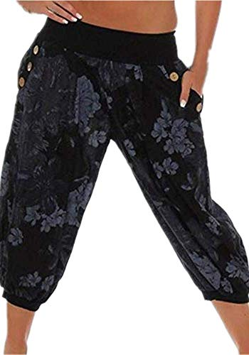 Missoul Damen 3/8 Capri Jeans Hose Shorts Damenjeans Hüftjeans Caprijeans Boyfriend -