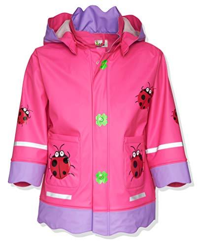Playshoes Baby - Mädchen Regenbekleidung 408583 Regenmantel / Regenjacke Glückskäfer von Playshoes, Gr. 80, Rosa (900 original)