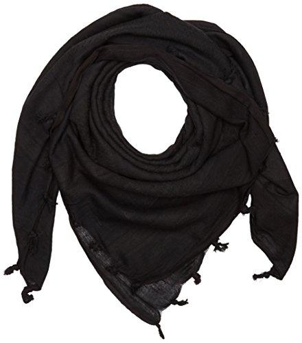 Shemagh Negro - Pañuelo Palestino casual de estilo militar casual miltec - bufanda