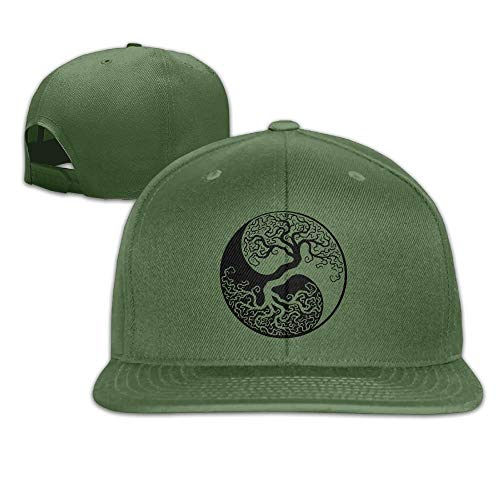 Tree of Life World Unisex Causal Fitted Flat Bill Skater Cap for Men and Women