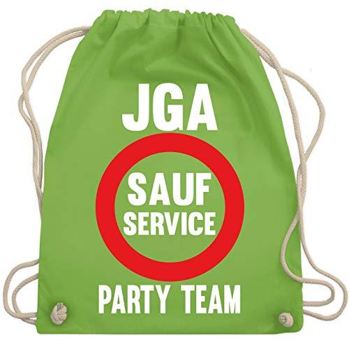 Bro Kostüm Gym - JGA Junggesellenabschied - JGA Sauf Service - Party Team - Unisize - Hellgrün - WM110 - Turnbeutel & Gym Bag
