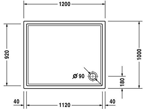 418vzeWqzvL - Duravit starck - Plato ducha 1200x1000 antislip blanco