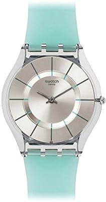 Swatch Reloj Analógico de Cuarzo Unisex con Correa de Silicona – SFK397 de Swatch