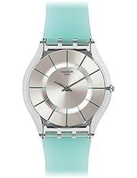 Swatch Unisex Erwachsene Armbanduhr Analog Quarz Silikon SFK397