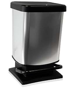 m lleimer treteimer abfalleimer paso 20 liter schwarz. Black Bedroom Furniture Sets. Home Design Ideas