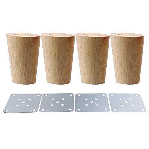 BQLZR Möbelfüße aus Massivholz, 4Stück, M4170724032 -