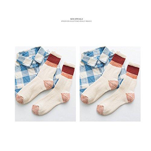 Lagougou Grobe Wolle Und Kaschmir Dicke Warme Socken Im Mobilteil Retro Baumwolle Socken, Handtücher, Lagerhaus Socken Socken Womenthatthe Rot