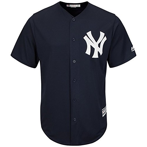 Majestic New York Yankees Cool Base MLB Trikot Alternate Navy M (Trikot Baseball Original)