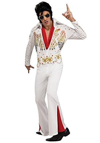 Männer Kostüm Rockstar - Tante Tina Elvis Rockstar Kostüm für Herren - Weiß - L (Gr. 54/56)