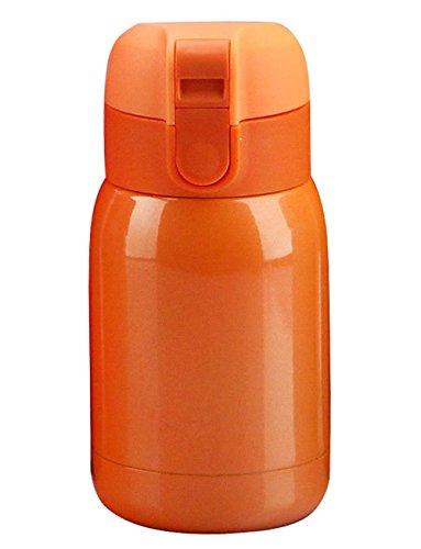 Thermos à Vide En Acier Inoxydable Gobelet Boisson Voyage Bouteille,Orange