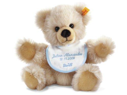 Steiff 014208 - Teddybär zur Geburt individuell mit gesticktem Namen - 7 Kleine Creme