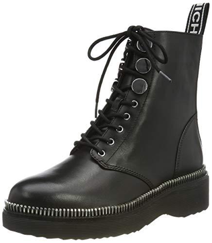 Michael Kors Damen Tavie Bootie Combat Boots Schwarz (Black 001), 37 EU (7 US)