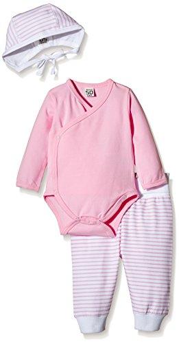 Care Baby-Mädchen Bekleidungsset Bio Baumwolle 3tlg., Rosa (Rose 542), 62