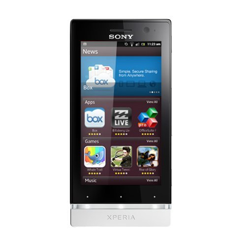 Sony Xperia U-Smartphone MYSAGA C2, display touch screen da 3,5'480 x 854, fotocamera 5 Mp, capacità: 4 GB, 2 processori, 1 GHz, RAM da 512 MB, Android 2,2), colore: bianco