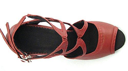TDA - Peep-Toe donna PU Red
