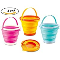 ToyZe® Foldable Pail Bucket Silicone Collapsible Bucket Multi Purpose 2