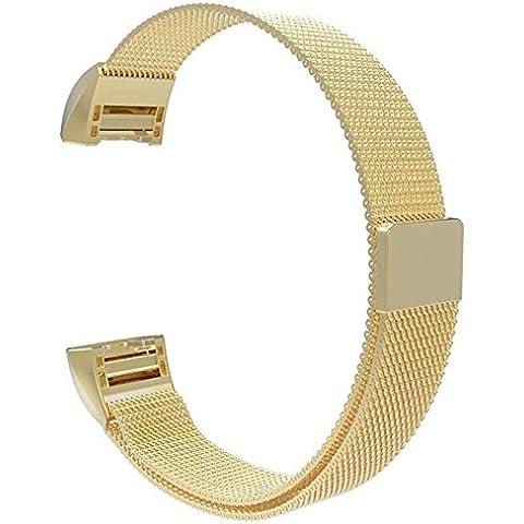 Fitbit Charge 2di ricambio Band, hanlesi acciaio
