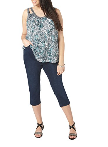 Highstreet Outlet Ladies Womens Plus Size Crop Cropped Slim Jeans Trousers Blue Black 14-32