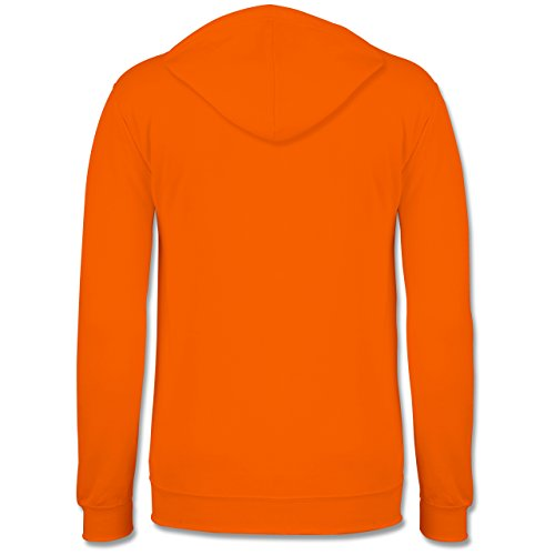 Handball - Burning ball - Männer Premium Kapuzenpullover / Hoodie Orange