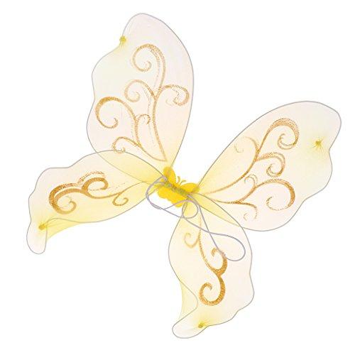 Baoblaze Glitzer Elfenflügel Feenflügel Engelflügel Schmetterlingsflügel Kostüm Flügel -