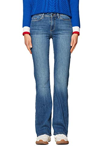 edc by ESPRIT Damen 998CC1B825 Bootcut Jeans, Blau (Blue Medium Wash 902), W30/L32 (Herstellergröße: 30/32)