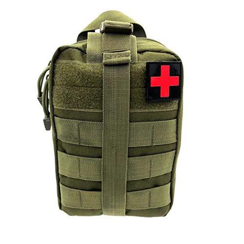 GYKFY Outdoor-Klettern Notfalltasche Militärische Taktische Überlebensrucksack-Kits Erste-Hilfe-Taktische Medizinische Tasche Camouflage Survival Kit Out Bag,ArmyGreen