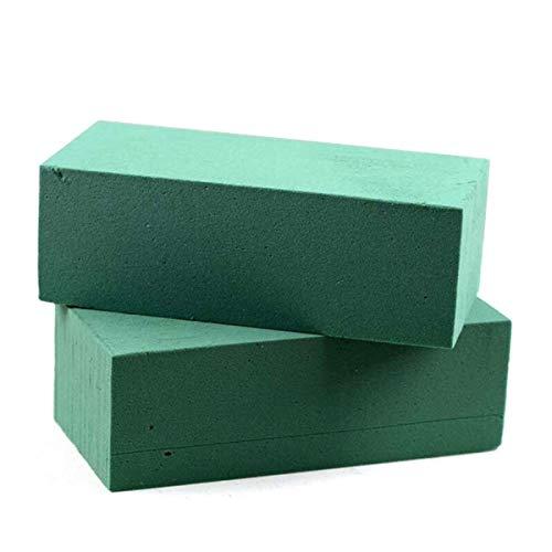 Takestop® spugna per fiori freschi 3 pezzi spugne idrofila verde 23x11cm per fioristi composizione floreali artificiali fai da te feste