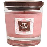 Pajoma 63163Woodwick Escape candela profumata, Romantic Rose 270G, durata circa 90ore