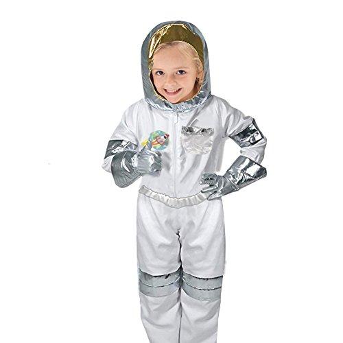 PER Kinderbesetzungs-Kostüm-Set verkleiden sich Rollenspiel-Set mit Zubehör für 3-6 Jahre alt Kleinkinder-Astronaut