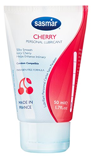 SASMAR Cherry Lubrifiant Gel Intime à Base d'Eau Tube 50 ml