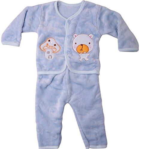 Icable Baby Boys Baby Girls Infants Kids Shearing Velvet Full Sleeves Winter Wear Night Suit 418w6N5K1XL