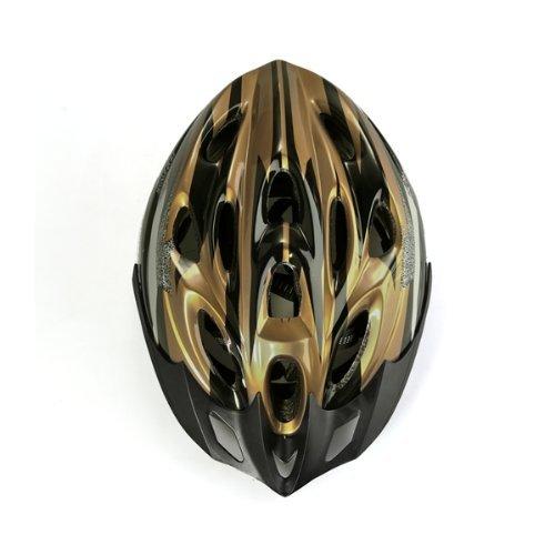 Dcolor Fahrrad Bike Helmet Helm MEGGY Fahrradhelm verstellbar Groesse L schwarz-gold