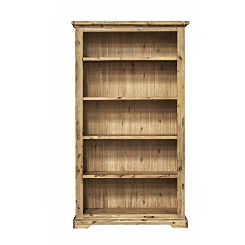 ETIENNE Regal 110 cm; Holz Akazie teilmassiv, gebürstet und lackiert, B 110 cm x H 195 cm x T 35 cm