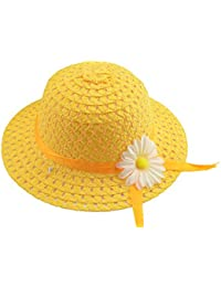 Leisial Sombrero de Paja Girasol Ala Ancha Verano Gorro Sombrero Viaje  Playa Anti UV Solar para e0ae44b1027