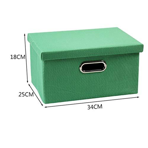 Kofferraum Organizer Cube (ZHANGQIANG-Auto Kofferraum Organizer Faltbare Aufbewahrungsboxen Mit Deckeln Fabric Storage Cube Mit Etikettenhalter Aufbewahrungsboxen (Farbe : Turquoise, größe : 34 * 25 * 18cm))