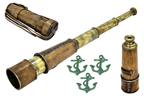 Brass Nautical Antique Telescope - 18 inches Long by NAUTICALMART -