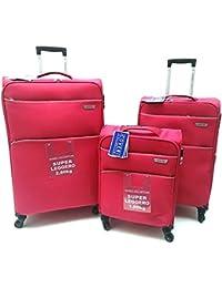 8d775e58b8 Set 3 valigie trolley Coveri Collection in tessuto 4 ruote autonome  bagaglio a mano idoneo compagnie