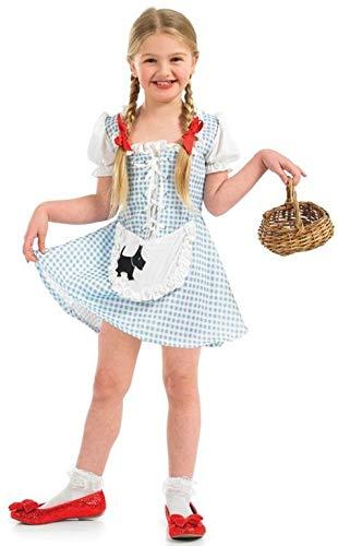 Muffet Miss Kostüm Kind - Fancy Me Mädchen Goldlöckchen Miss Muffet Dorothys Buch Tag Halloween Märchen Kostüm Kleid Outfit 4-12 Jahre - Blau, 6-8 Years