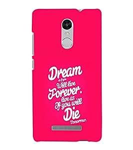 EPICCASE Dreamz and Die Mobile Back Case Cover For Xiaomi Redmi Note 3 (Designer Case)