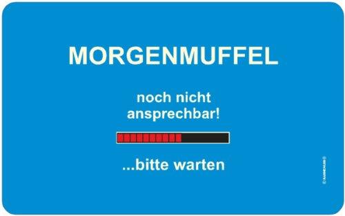 Morgenmuffel: Rahmenlos® Frühstücksbrettchen, küchen- und lebensmittelgerechtes Resopal 23,5 x 14,5 cm