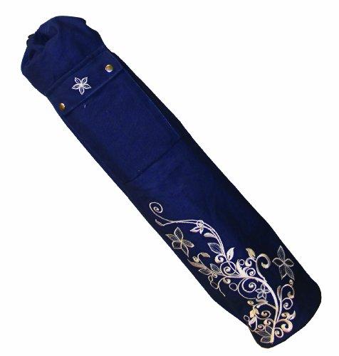 Yoga-Mad Yoga - Colchoneta de yoga ( algodón, 100-119 cm ) , color azul, talla 80 x 14.5cm
