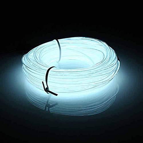 EL-LED-Lichtband, Gezichta, 10 m Neon-Lichter, leuchtendes Stroboskop, Party-Dekoration, flexibles EL Seil, Neonschild, wasserdicht, LED-Streifen mit Controller für Innen- und Außendekorationen weiß