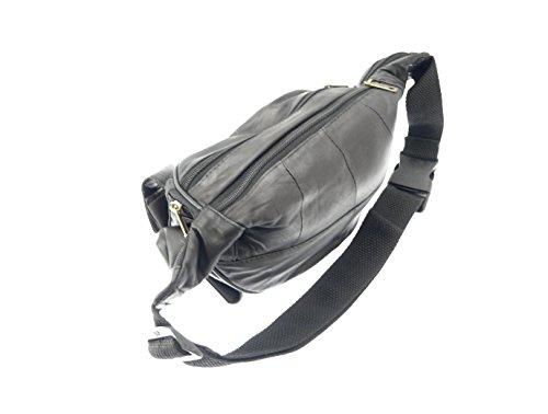 Calidad superior de cuero suave del bolso 7 compartimento trasero.