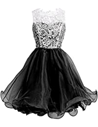 Fashion Plaza Organza & Spitze Mini Cocktail Party Kleid D0250