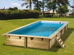 Kit piscine bois Nortland-Ubbink AZURA 3.50x6.50x1.26m Nortland Ubbink 7504382